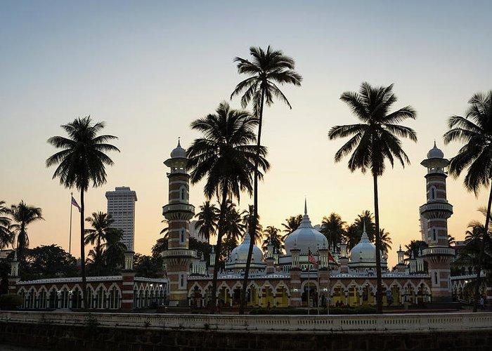 Clear Sky Greeting Card featuring the photograph Masjid Jamek - Kuala Lumpur by @ Didier Marti