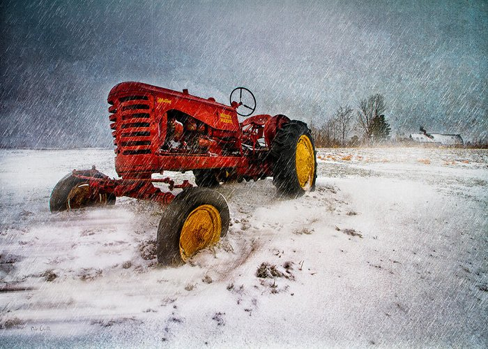 Transportation Greeting Card featuring the photograph Massey Harris Mustang by Bob Orsillo