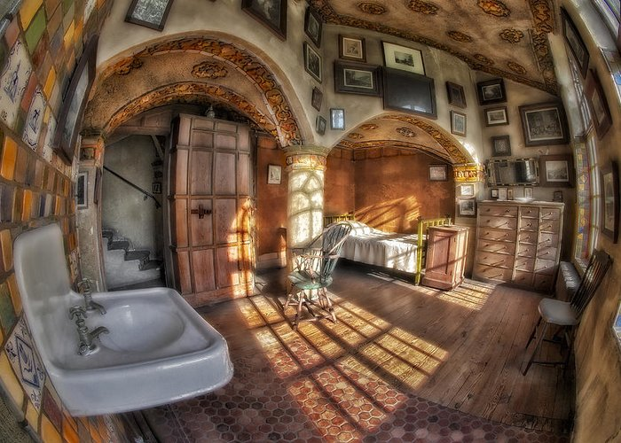 Byzantine Greeting Card featuring the photograph Master Bedroom At Fonthill Castle by Susan Candelario