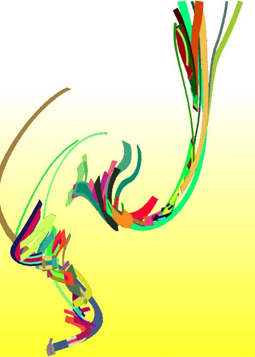 Mating Dance Greeting Card featuring the digital art Mating Dance by Stephen Coenen