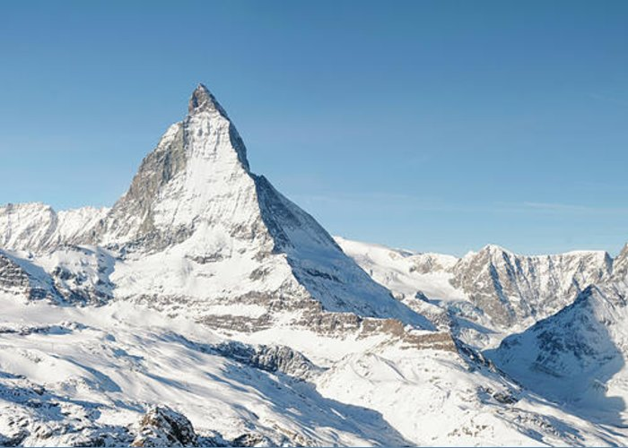 Scenics Greeting Card featuring the photograph Matterhorn Panorama by Georgeclerk