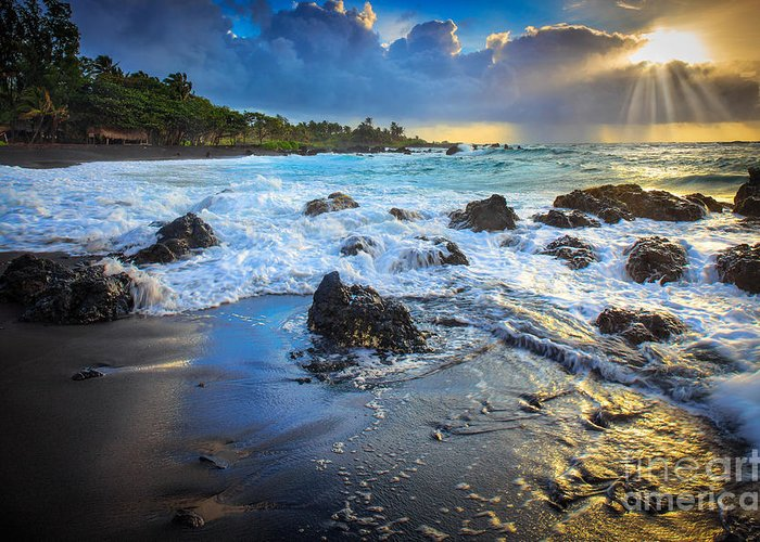 America Greeting Card featuring the photograph Maui Dawn by Inge Johnsson