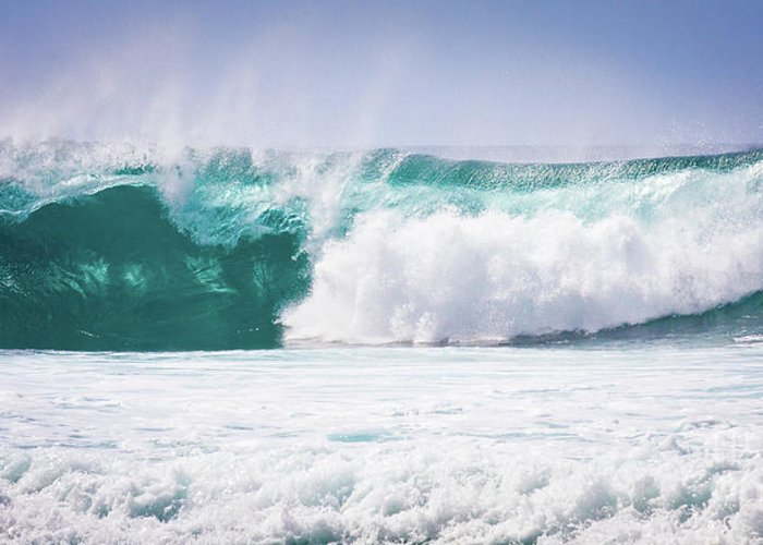 Oahu Greeting Card featuring the photograph Maui Huge Wave by Denis Dore