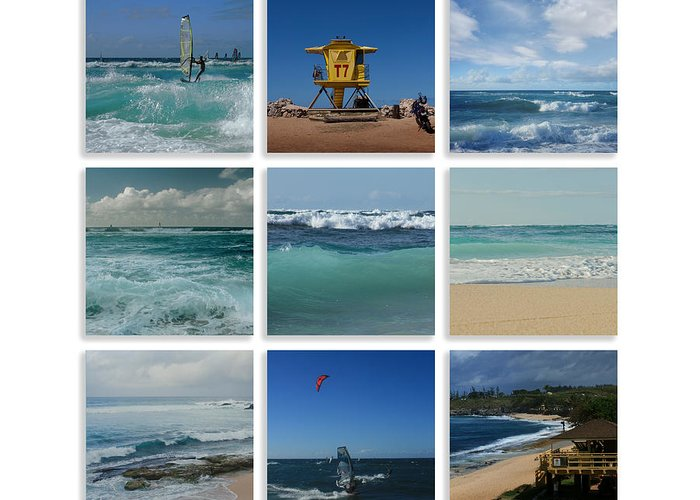 Wind Surfing Photographs Greeting Cards