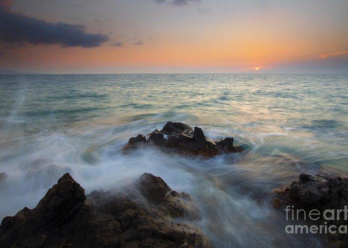 Maui Greeting Card featuring the photograph Maui Tidal Swirl by Mike Dawson