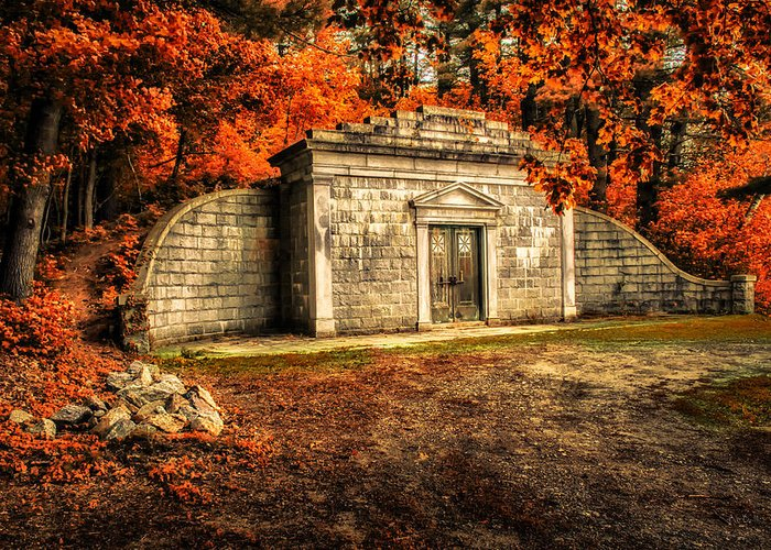 Mausoleum Greeting Card featuring the photograph Mausoleum by Bob Orsillo