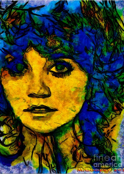 Greeting Card featuring the digital art Max Cooper Linda Ronstadt  by Max Cooper