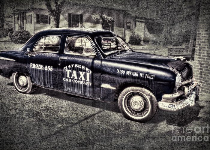 Andy Griffith Greeting Card featuring the photograph Mayberry Taxi by David Arment