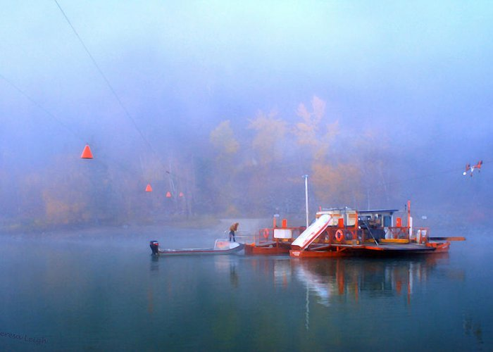 Beautiful British Columbia Greeting Card featuring the photograph Mcclure Ferry by Theresa Tahara