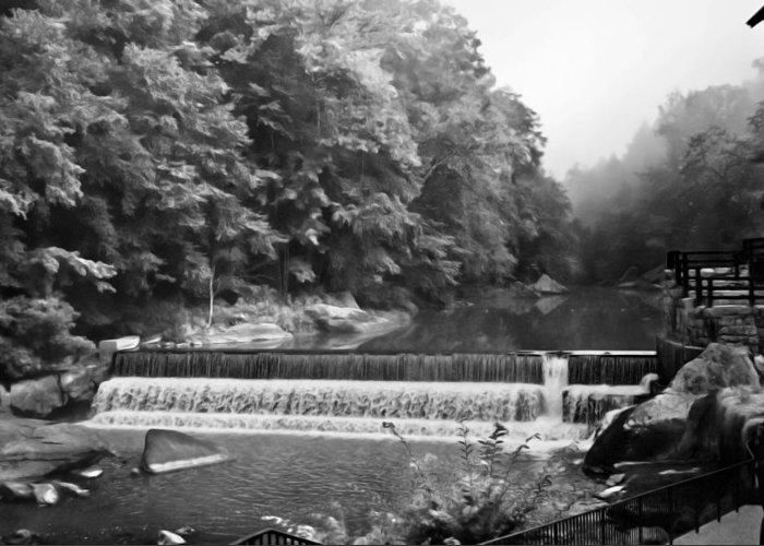 Water Scenes Greeting Card featuring the photograph Mcconnell Mills B W Wat 255 by G L Sarti