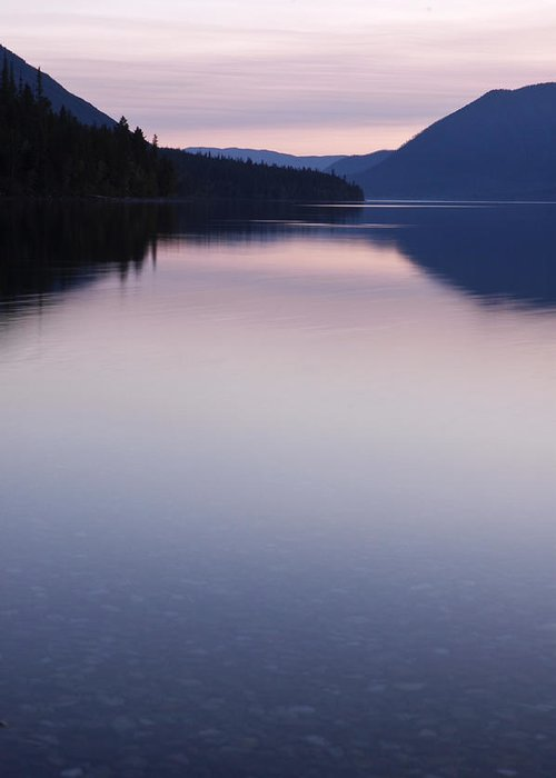 Glacier National Park Greeting Card featuring the photograph Mcdonald Lake Sunset by Frank Burhenn