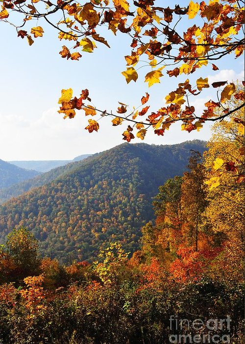 Autumn Greeting Card featuring the photograph Mcguire Mountain Overlook by Thomas R Fletcher