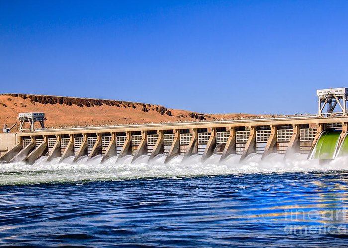 Dam Greeting Card featuring the photograph Mcnary Dam by Robert Bales