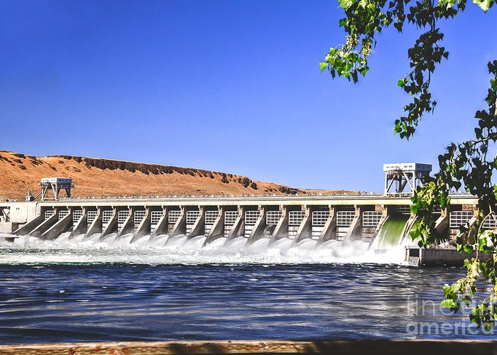 Dam Greeting Card featuring the photograph Mcnary Hydroelectric Dam by Robert Bales