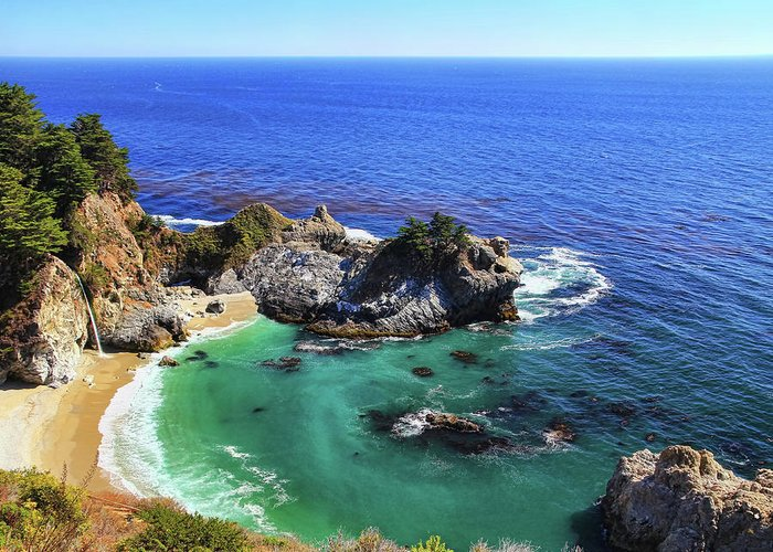 Scenics Greeting Card featuring the photograph Mcway Falls by David Toussaint