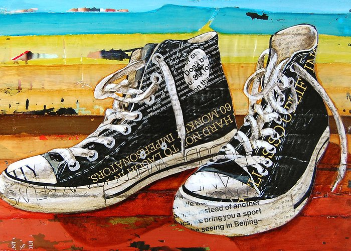 Converse Greeting Card featuring the mixed media Meaningful Convere-ations by Danny Phillips