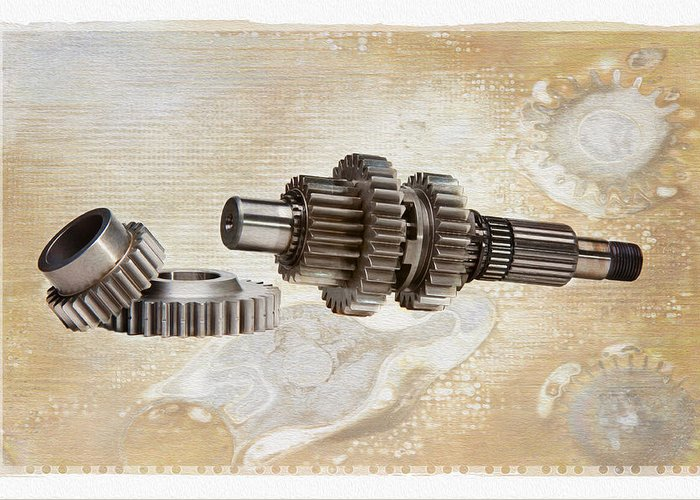 Gear Greeting Card featuring the photograph Mechanical Life by Stephen Baker