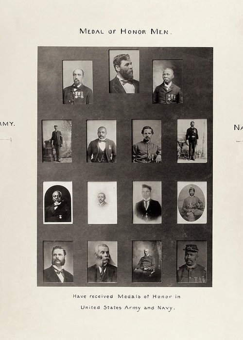 1899 Greeting Card featuring the photograph Medal Of Honor Recipients by Granger