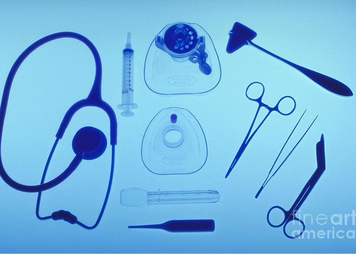 Health Greeting Card featuring the photograph Medical Equipment by Blair Seitz
