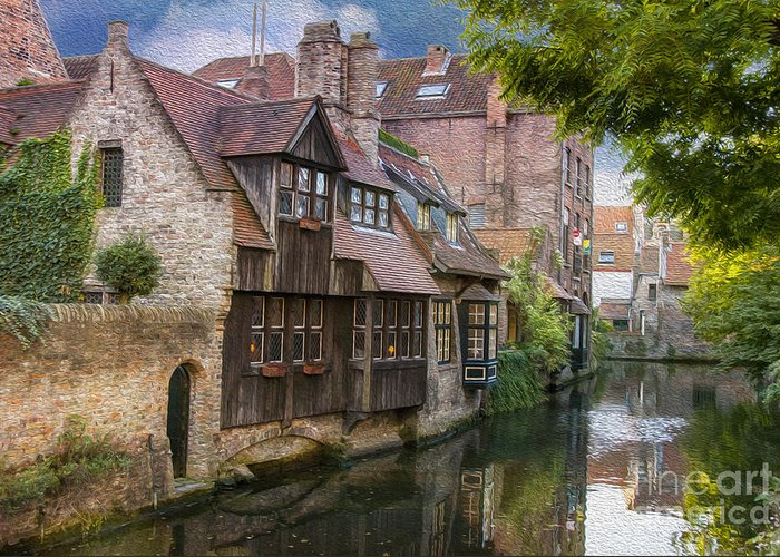 Architecture Greeting Card featuring the photograph Medieval Bruges by Juli Scalzi