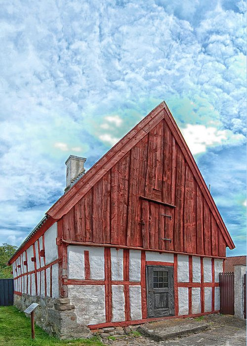 Ahus Greeting Card featuring the photograph Medieval Building by Antony McAulay