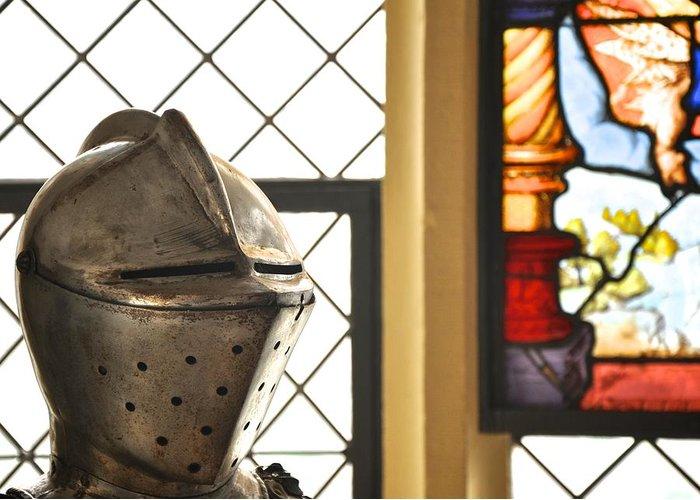 Helmet Greeting Card featuring the photograph Medieval Helmet by Matt MacMillan