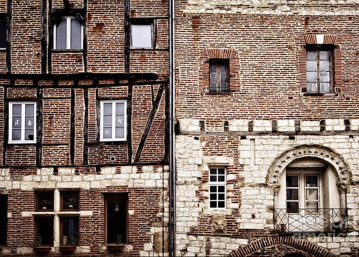 Albi Greeting Card featuring the photograph Medieval Houses In Albi France by Elena Elisseeva