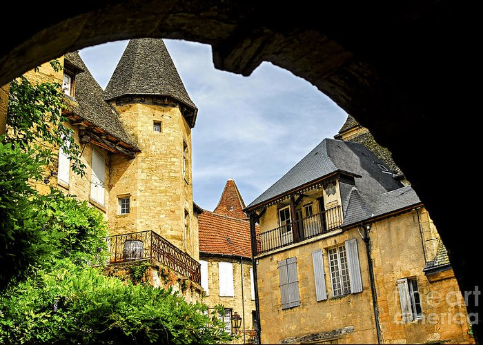 Sarlat Greeting Card featuring the photograph Medieval Sarlat by Elena Elisseeva