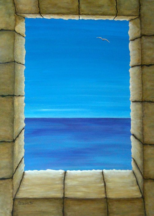 Pamela Allegretto Greeting Card featuring the painting Meditation by Pamela Allegretto