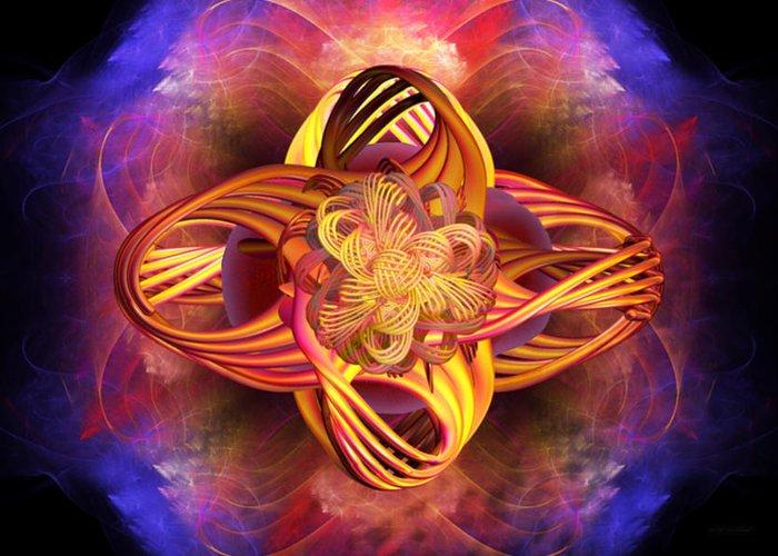 Meditation Greeting Card featuring the digital art Meditative Energy by Elizabeth S Zulauf
