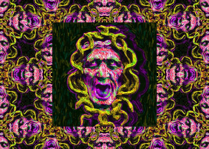 Medusa Greeting Card featuring the photograph Medusa's Window 20130131m138 by Wingsdomain Art and Photography
