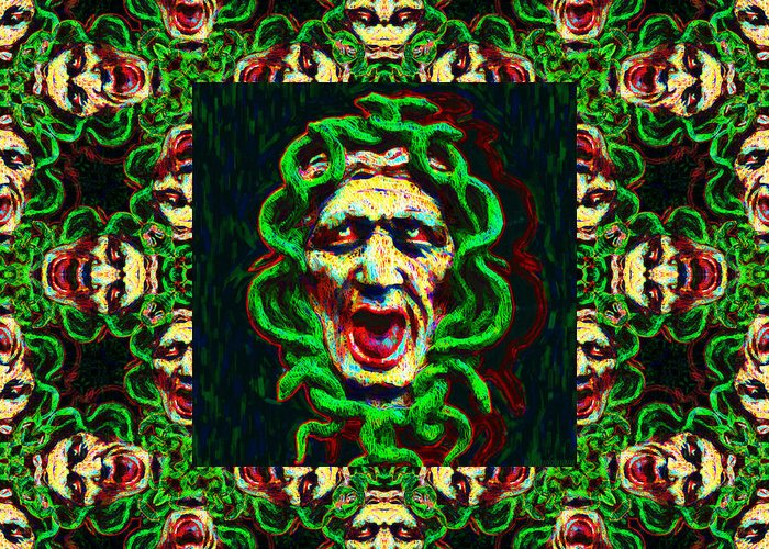 Medusa Greeting Card featuring the photograph Medusa's Window 20130131p0 by Wingsdomain Art and Photography