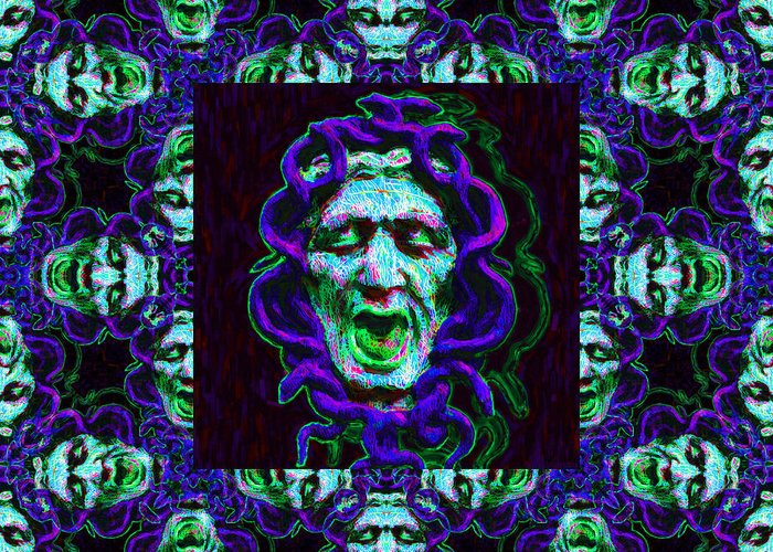 Medusa Greeting Card featuring the photograph Medusa's Window 20130131p138 by Wingsdomain Art and Photography