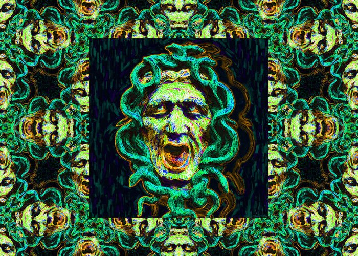 Medusa Greeting Card featuring the photograph Medusa's Window 20130131p38 by Wingsdomain Art and Photography