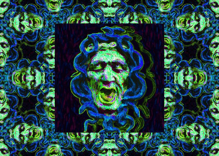 Medusa Greeting Card featuring the photograph Medusa's Window 20130131p90 by Wingsdomain Art and Photography