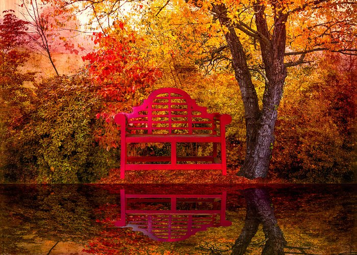 American Greeting Card featuring the photograph Meet Me At The Pond by Debra and Dave Vanderlaan