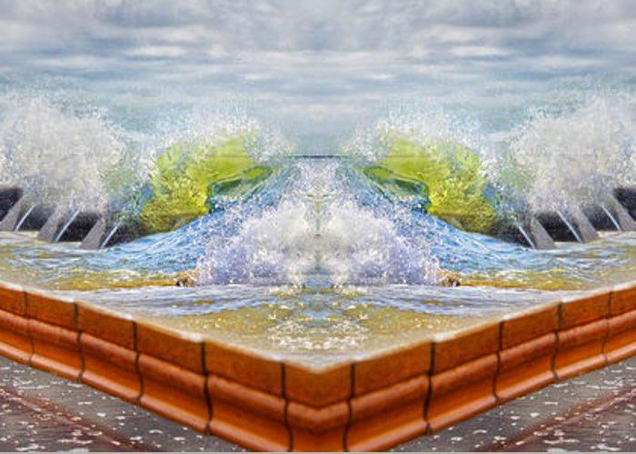 Beach Greeting Card featuring the digital art Meet The Keys by Betsy Knapp