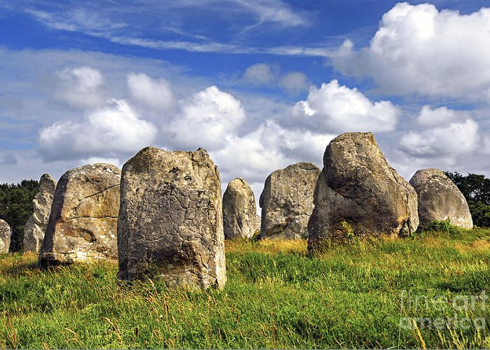 Megalith Greeting Card featuring the photograph Megalithic Monuments In Brittany by Elena Elisseeva