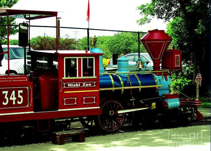 Train Greeting Card featuring the photograph Mel Mckay Express Niabi by Margaret Newcomb