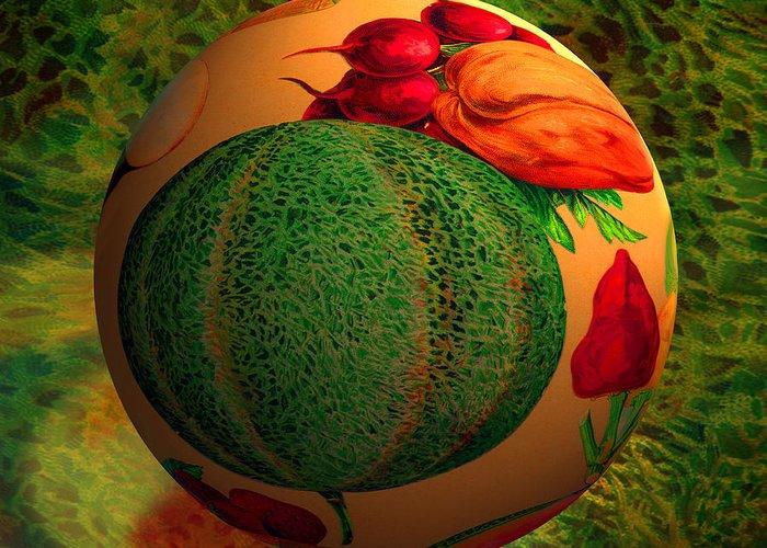 Melon Digital Art Greeting Cards
