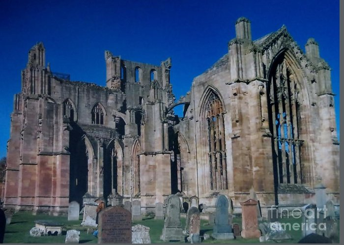 Abbey Greeting Card featuring the photograph Melrose Abbey Scotland by Tim Townsend