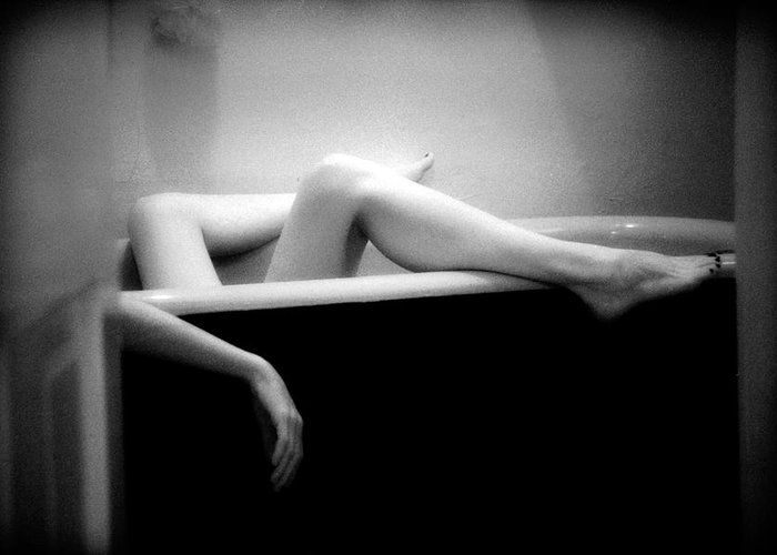 Female Nude Greeting Card featuring the photograph Melting by Lindsay Garrett