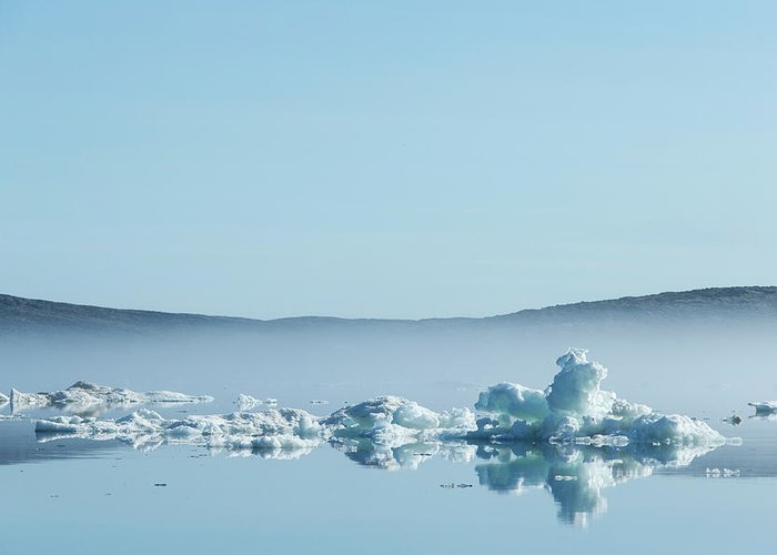 Scenics Greeting Card featuring the photograph Melting Sea Ice, Hudson Bay, Canada by Paul Souders