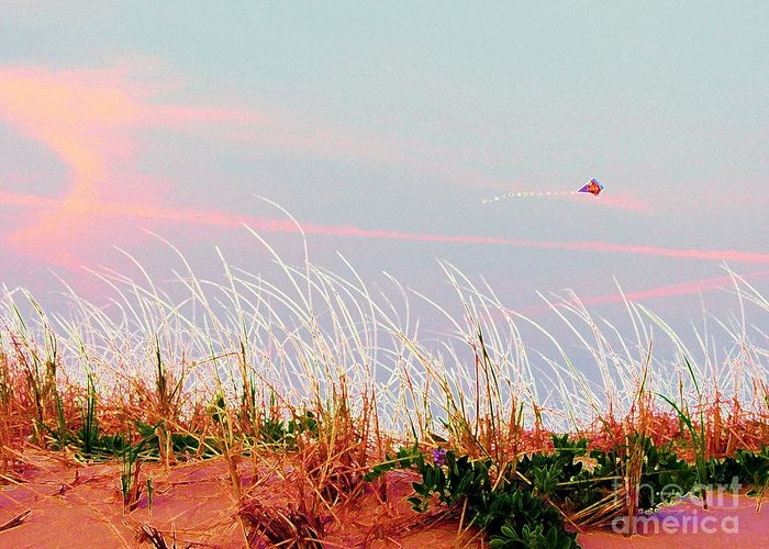 Dunes Greeting Card featuring the photograph Memorial Day By The Sea by Susan Carella