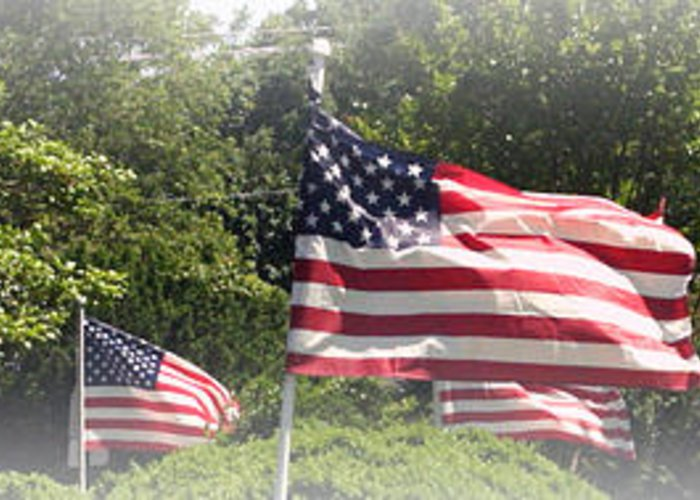 Flags Greeting Card featuring the photograph Memorial Day by James Barrere