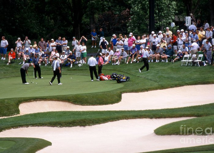 Memorial Tournament Greeting Card featuring the photograph 12w192 Memorial Tournament Photo by Ohio Stock Photography