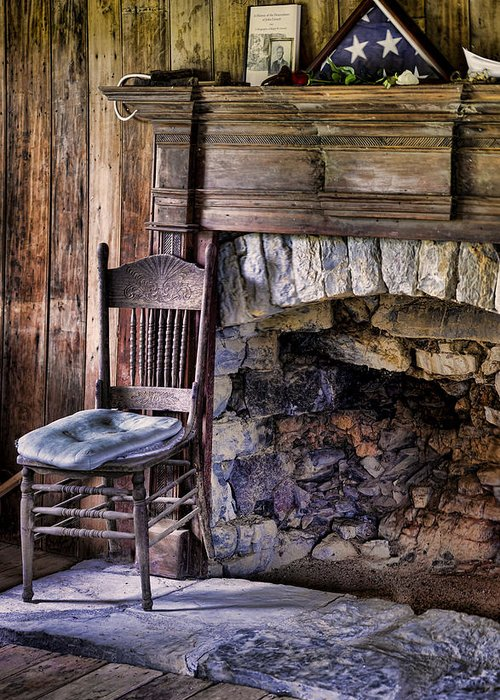 Fireplace Greeting Card featuring the photograph Memories by Heather Applegate