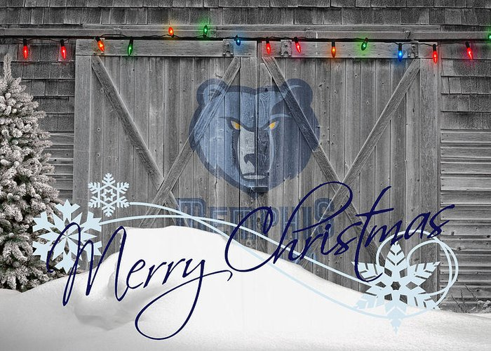 Grizzlies Greeting Card featuring the photograph Memphis Grizzlies by Joe Hamilton