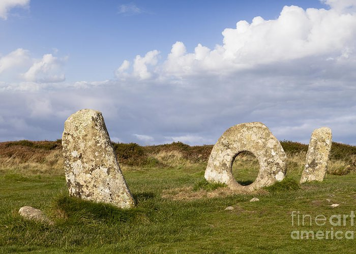 Ancient Greeting Card featuring the photograph Men-an-tol Cornwall by Colin and Linda McKie