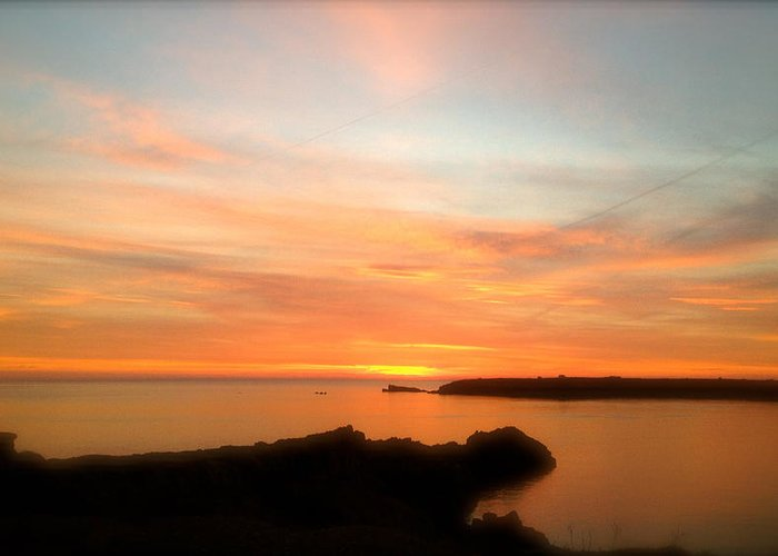 Sunset Greeting Card featuring the photograph Menorcan Sunset by John Colley